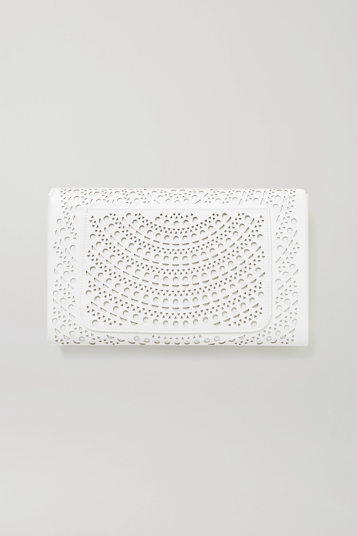 Alaïa Lasergeschnittene Clutch aus Leder
