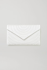 Alaïa Laser-cut leather clutch