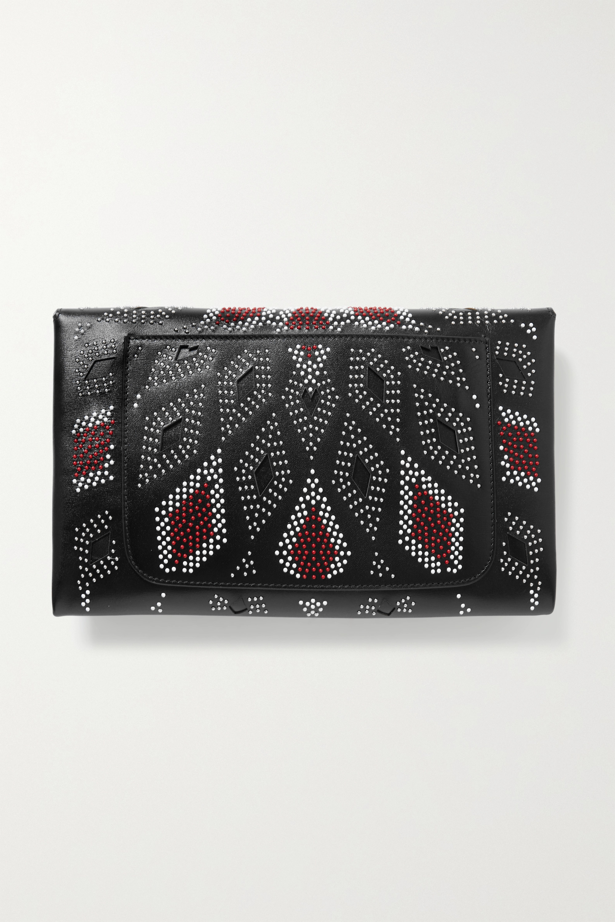 Alaïa Oum medium studded leather clutch