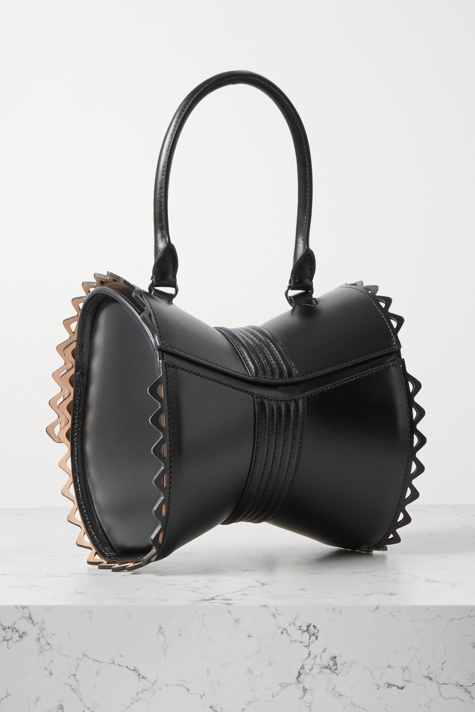Alaïa Editions Corset 18 buckled laser-cut leather tote