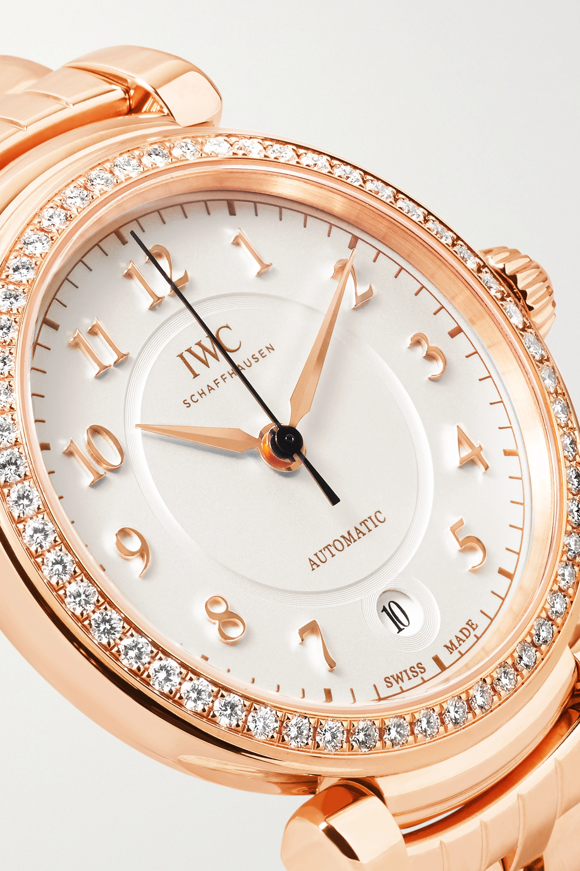 IWC SCHAFFHAUSEN Da Vinci Automatic 36 18-karat red gold diamond watch