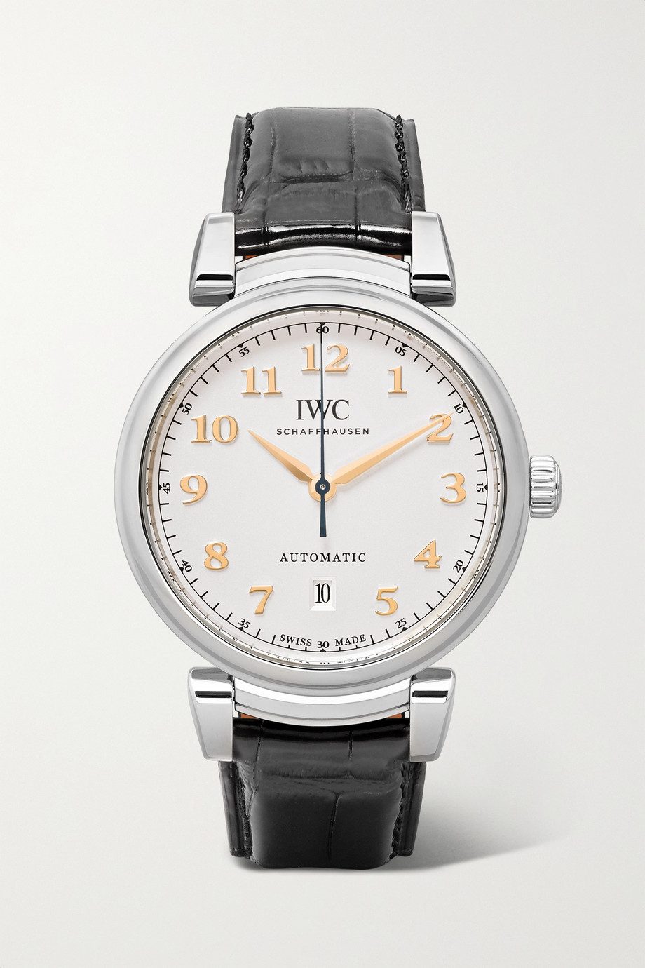 IWC SCHAFFHAUSEN Da Vinci Automatic 40mm stainless steel and alligator watch