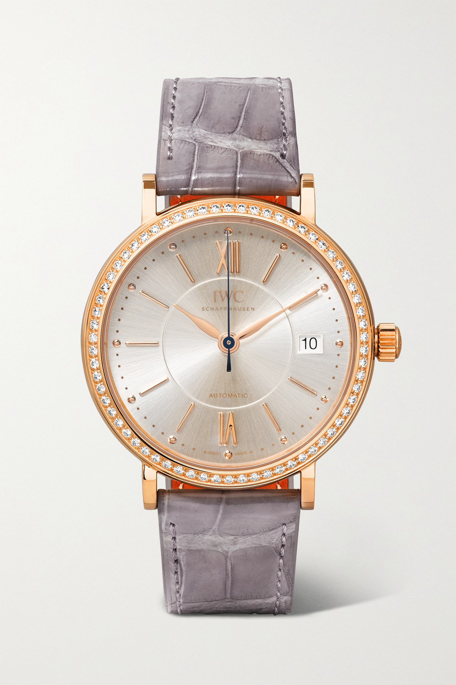 IWC SCHAFFHAUSEN Portofino Automatic 37mm 18-karat red gold, alligator and diamond watch