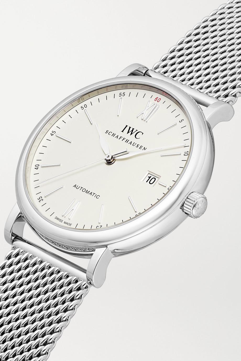 IWC SCHAFFHAUSEN Portofino Automatic 40 mm Uhr aus Edelstahl