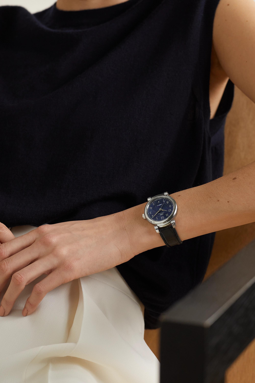 IWC SCHAFFHAUSEN Montre en acier inoxydable à bracelet en alligator Da Vinci Automatic 36 mm