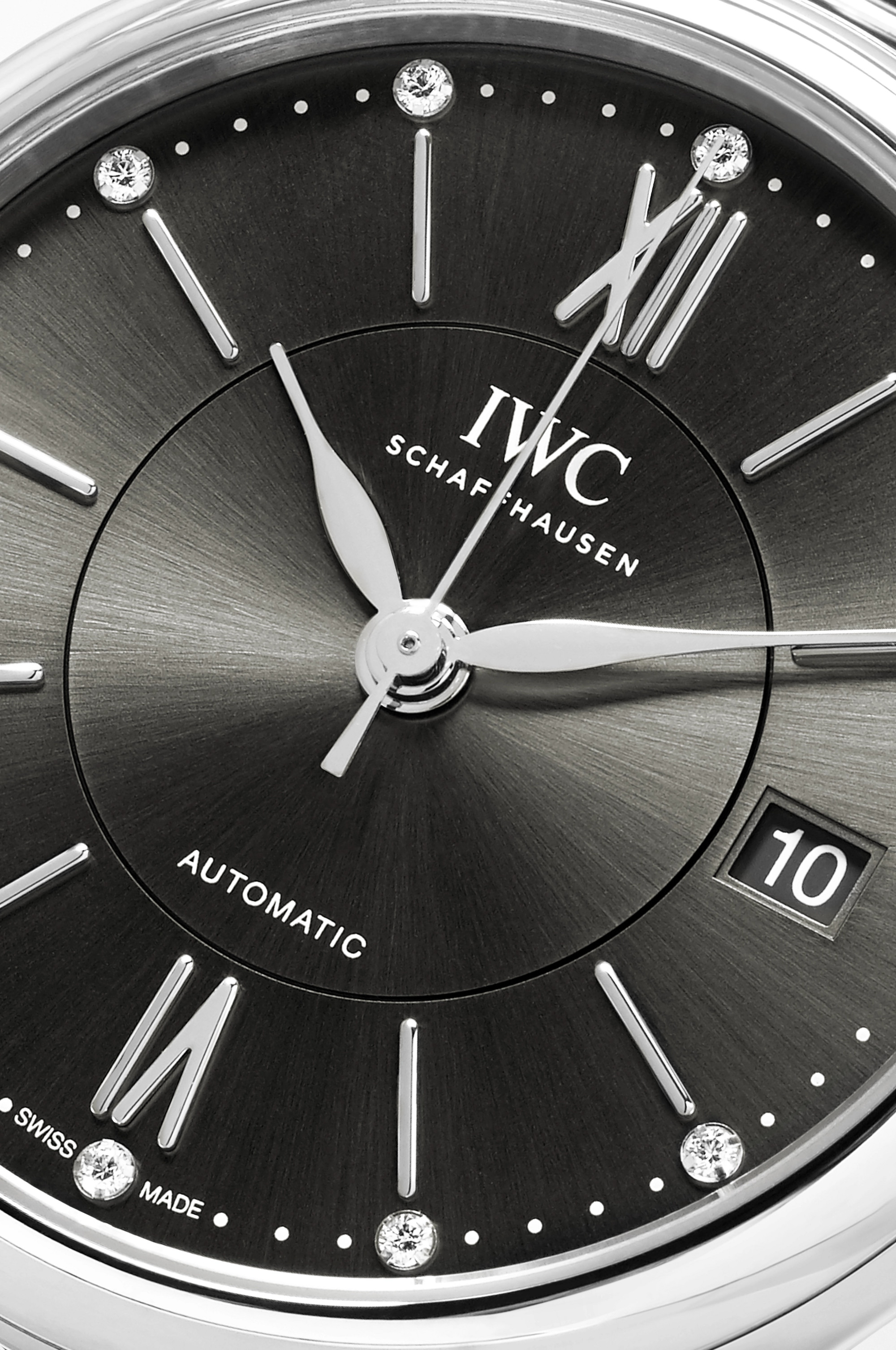 IWC SCHAFFHAUSEN Portofino Automatic 37mm stainless steel and diamond watch