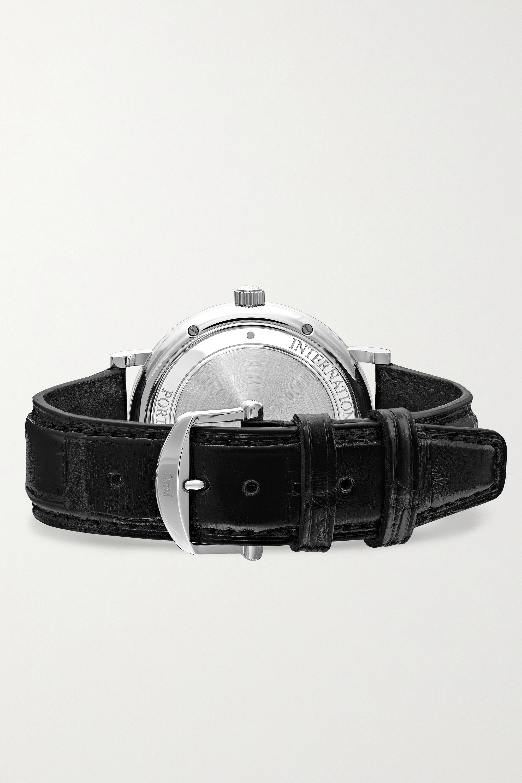 IWC SCHAFFHAUSEN Montre en acier inoxydable à bracelet en alligator Portofino Automatic 40 mm