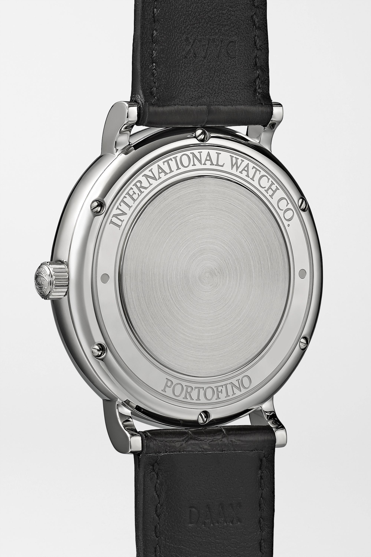 IWC SCHAFFHAUSEN Portofino Automatic 40 毫米精钢腕表(短吻鳄鱼皮表带)