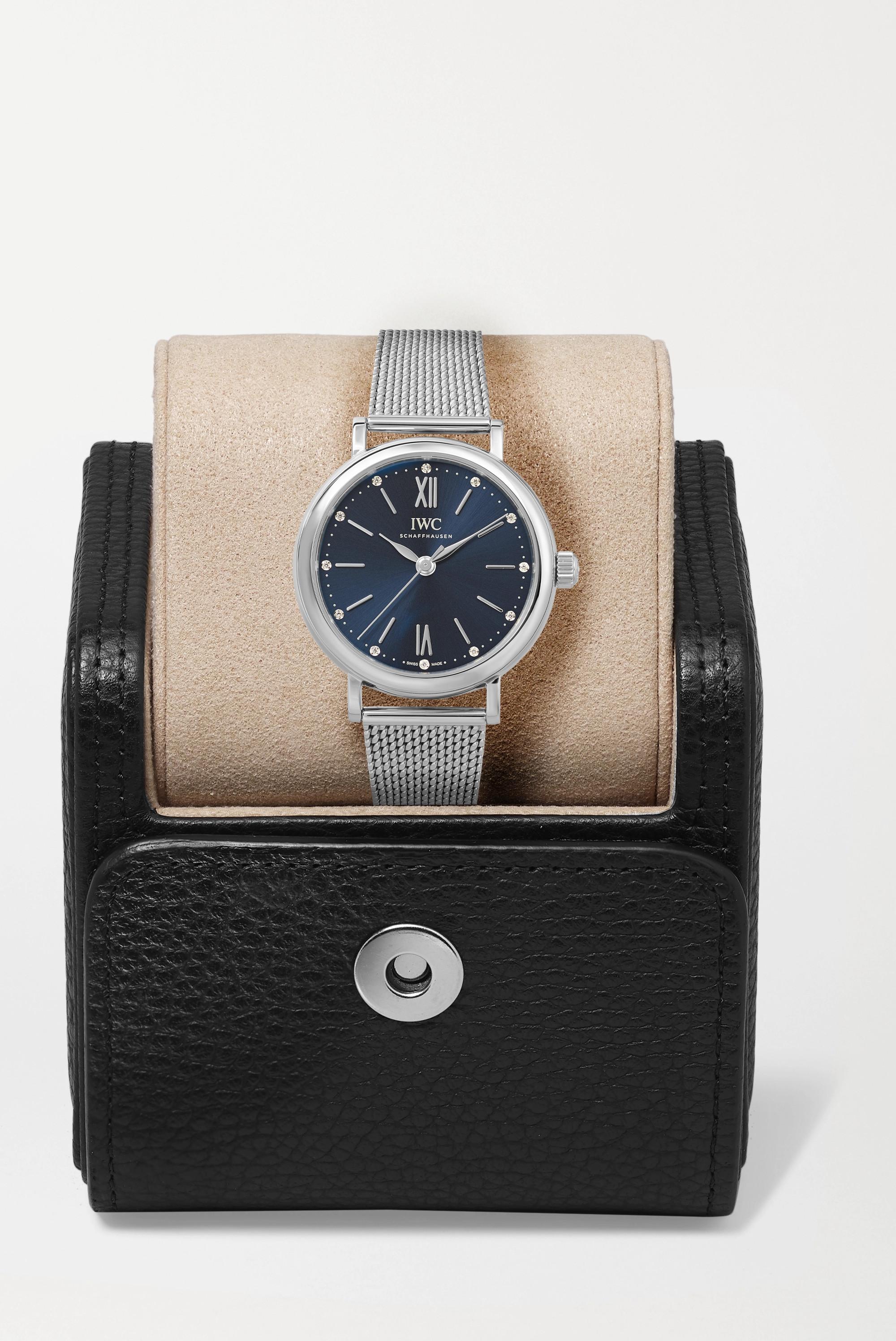 IWC SCHAFFHAUSEN Portofino Automatic 34mm stainless steel and diamond watch