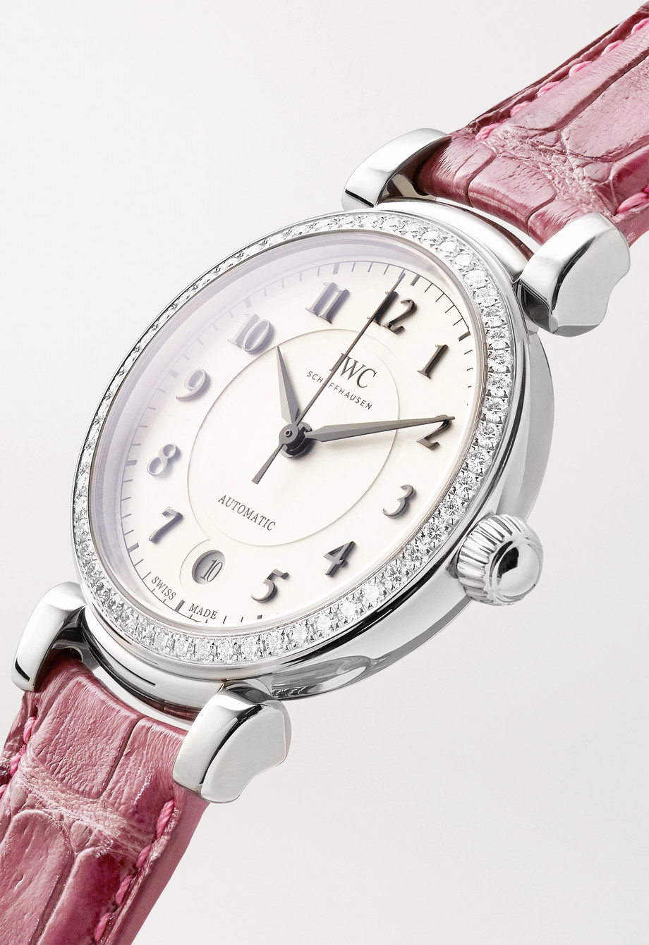 IWC SCHAFFHAUSEN Da Vinci Automatic 36mm stainless steel, alligator and diamond watch