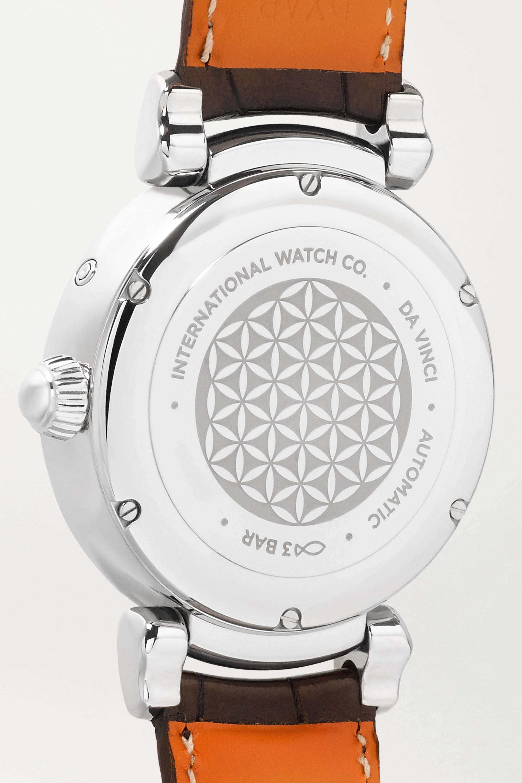 IWC SCHAFFHAUSEN Da Vinci Automatic Moon Phase 36mm stainless steel, alligator and diamond watch