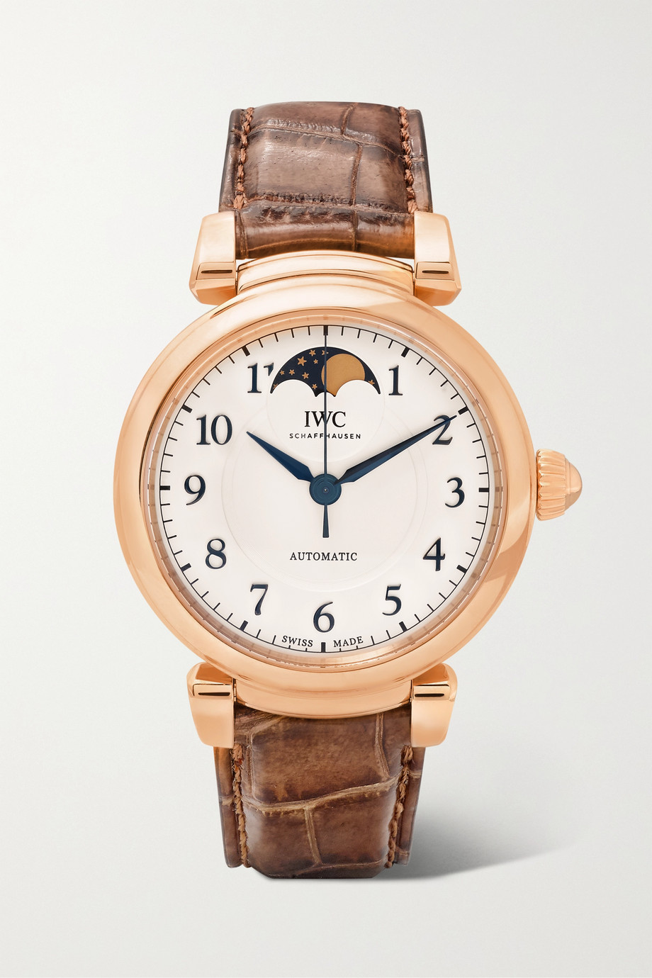 IWC SCHAFFHAUSEN Da Vinci Automatic Moon Phase 36mm 18-karat red gold and alligator watch