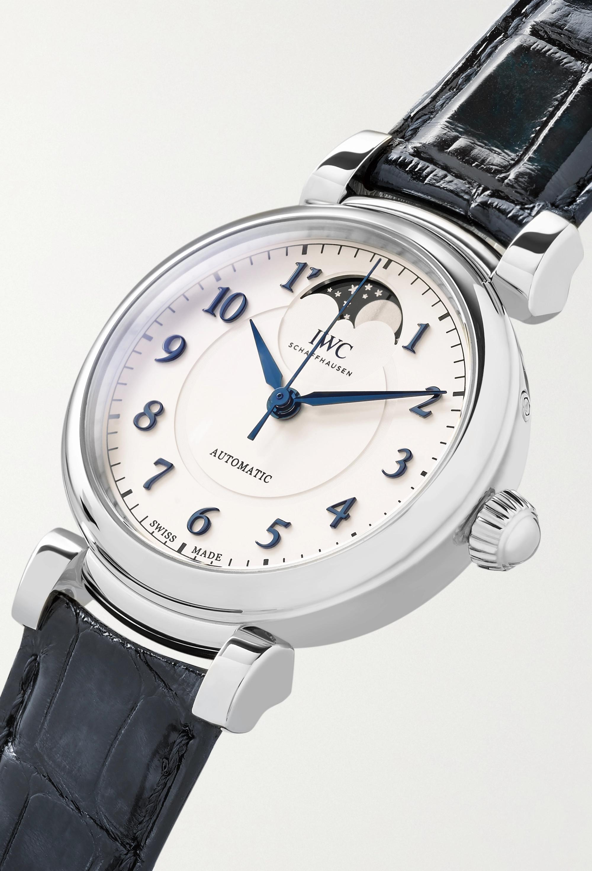 IWC SCHAFFHAUSEN Da Vinci Automatic Moon Phase 36mm stainless steel and alligator watch