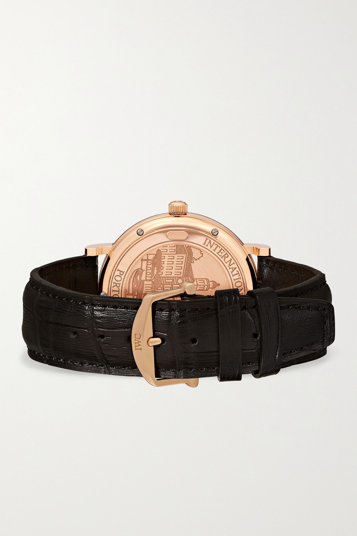 IWC SCHAFFHAUSEN Portofino Automatic 40 mm Uhr aus 18 Karat Rotgold mit Alligatorlederarmband