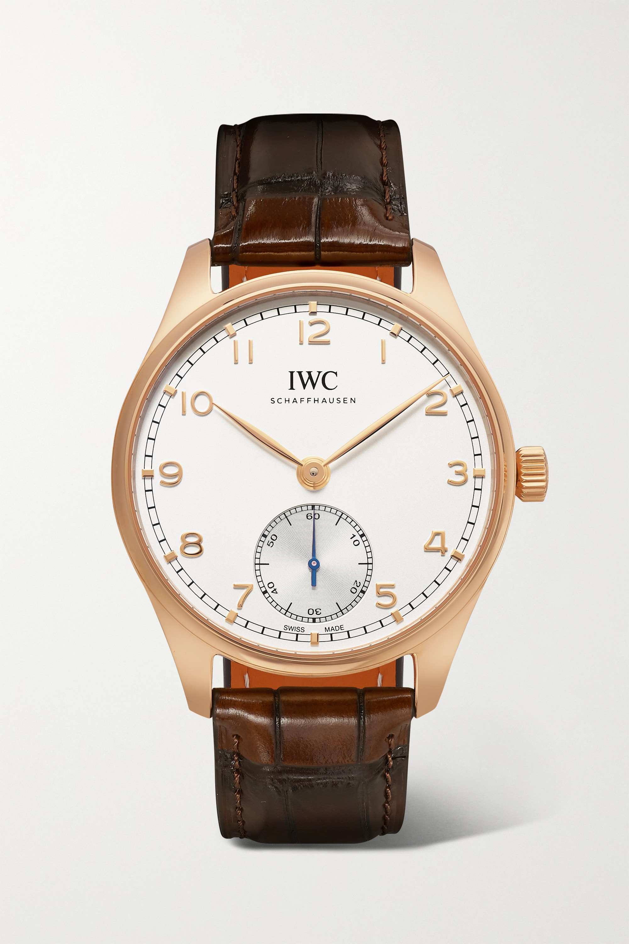 IWC SCHAFFHAUSEN Portugieser Automatic 40.4mm 18-karat red gold and alligator watch