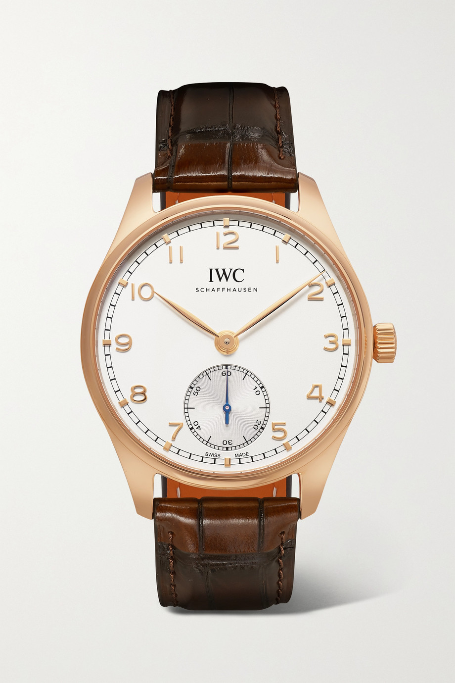 IWC SCHAFFHAUSEN Montre en or rouge 18 carats à bracelet en alligator Portugieser Automatic 40,4 mm