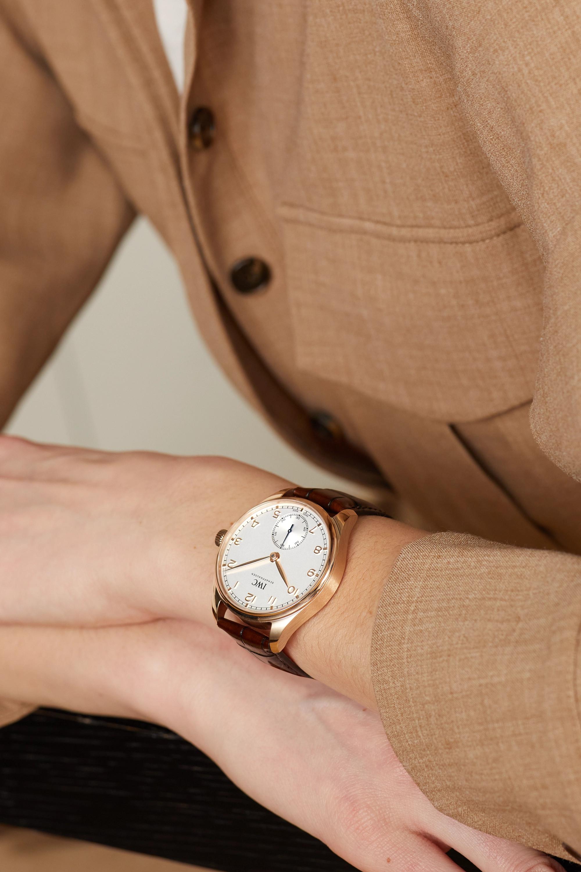 IWC SCHAFFHAUSEN Portugieser Automatic 40.4mm 18-karat red gold and alligator watch