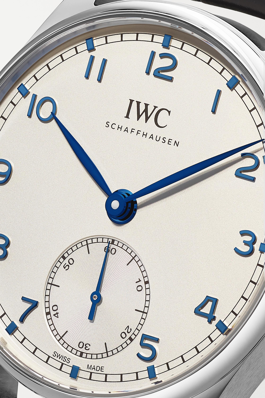 IWC SCHAFFHAUSEN Portugieser Automatic 40.4 毫米精钢腕表(短吻鳄鱼皮表带)