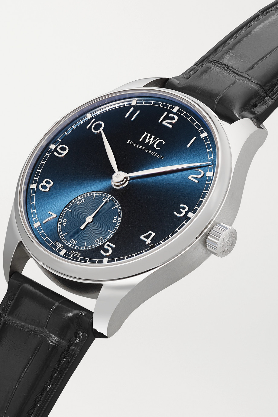 IWC SCHAFFHAUSEN Portugieser Automatic 40.4mm stainless steel and alligator watch