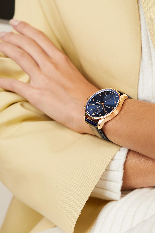 IWC SCHAFFHAUSEN Portugieser Automatic Chronograph Boutique Edition 41mm 18-karat red gold and alligator watch
