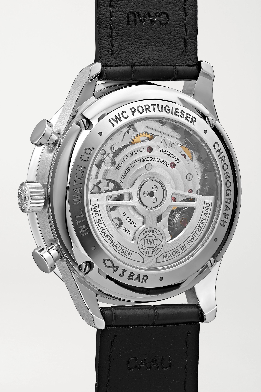 IWC SCHAFFHAUSEN Portugieser 41 毫米自动上链计时精钢腕表(短吻鳄鱼皮表带)