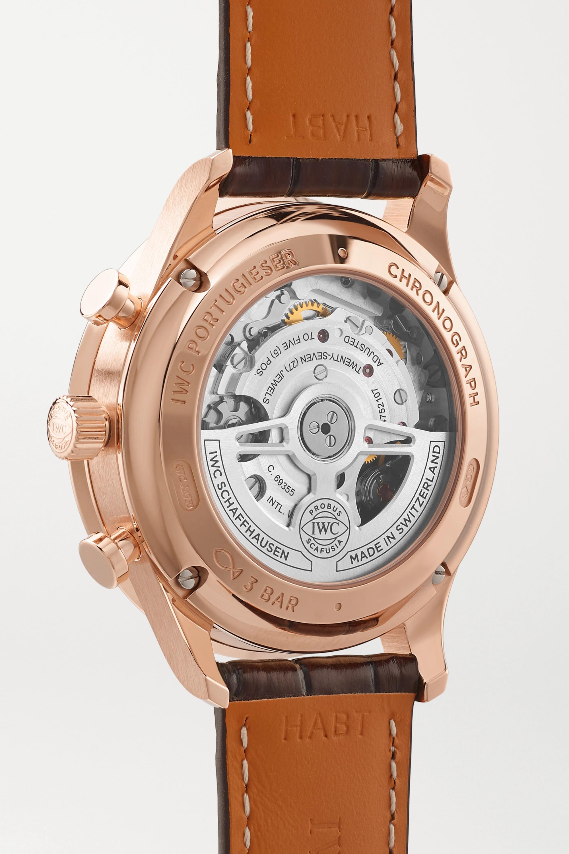 IWC SCHAFFHAUSEN Portugieser Automatic Chronograph 41mm 18-karat red gold and alligator watch