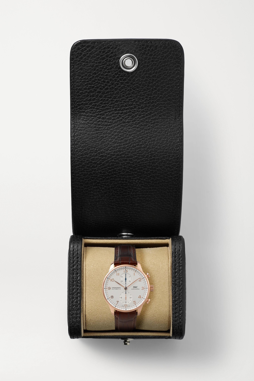 IWC SCHAFFHAUSEN Montre en or rouge 18 carats à bracelet en alligator Portugieser Chronograph Automatic 41 mm