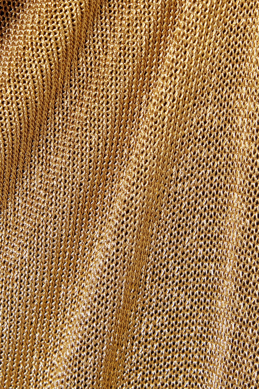 Fendi Rückenfreie Robe aus Metallic-Strick