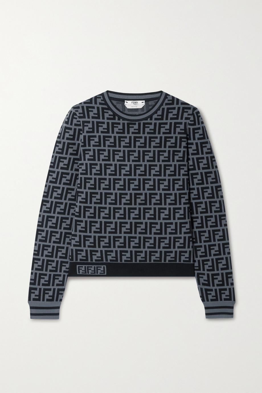 Fendi Jacquard-knit sweater