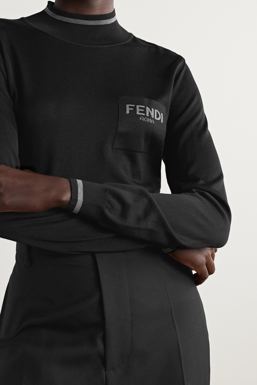 Fendi Intarsia silk sweater