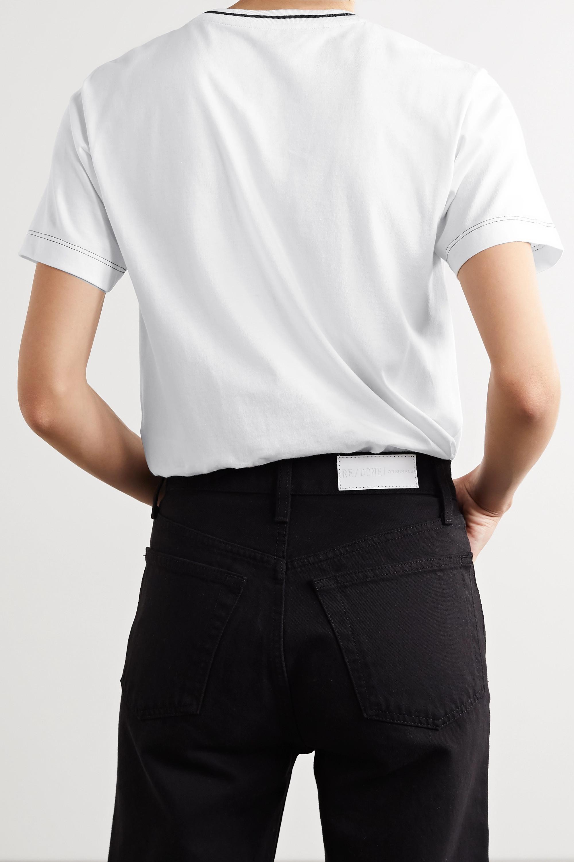 Fendi T-Shirt aus Baumwoll-Jersey mit Stickerei