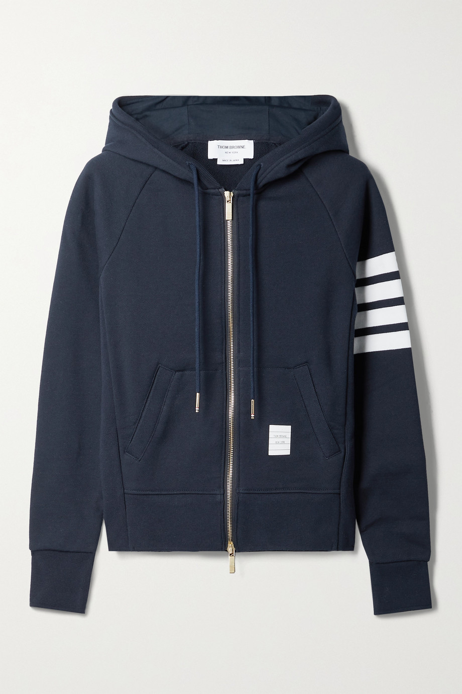 Thom Browne Striped cotton-jersey hoodie