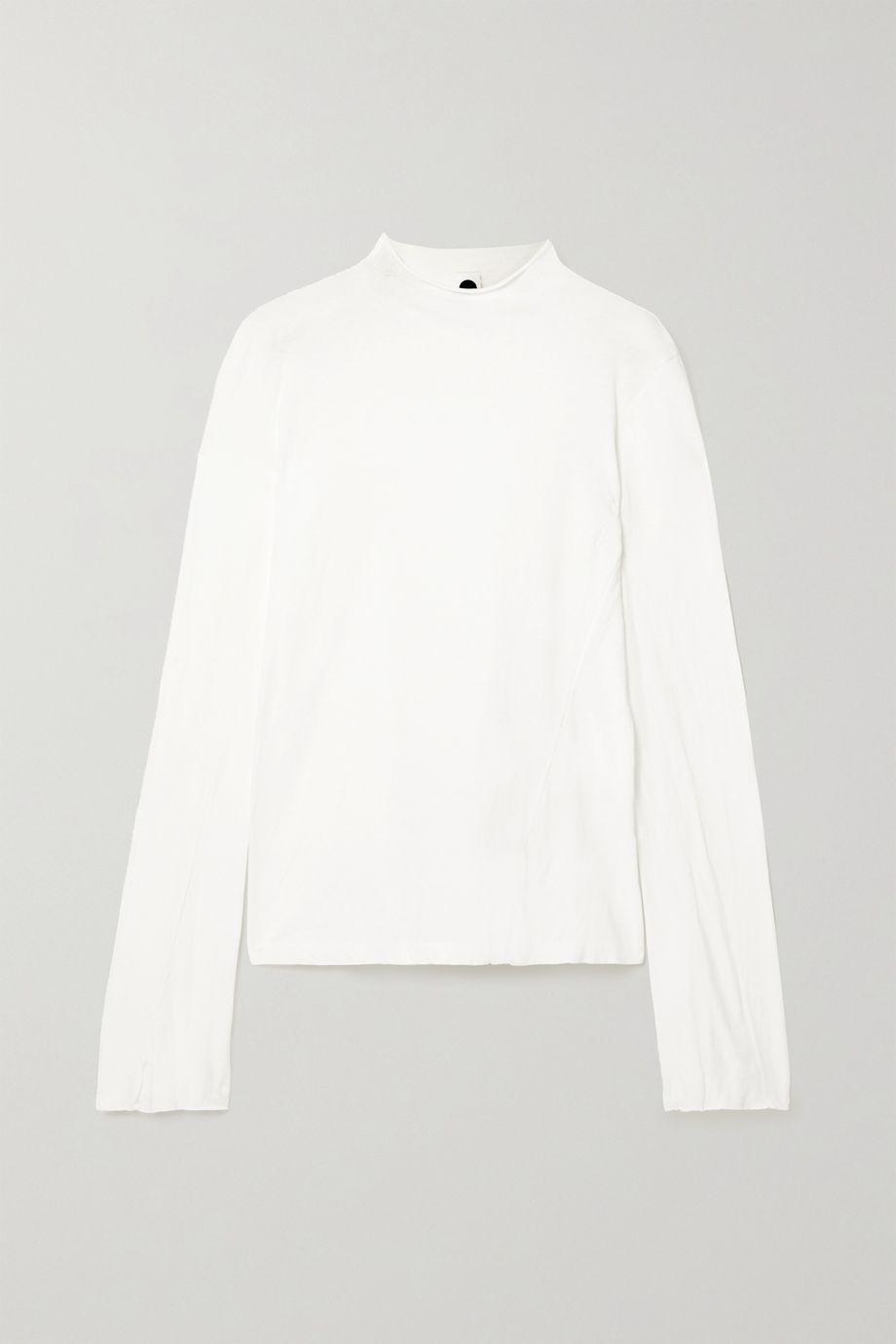 Bassike + NET SUSTAIN organic cotton-jersey top