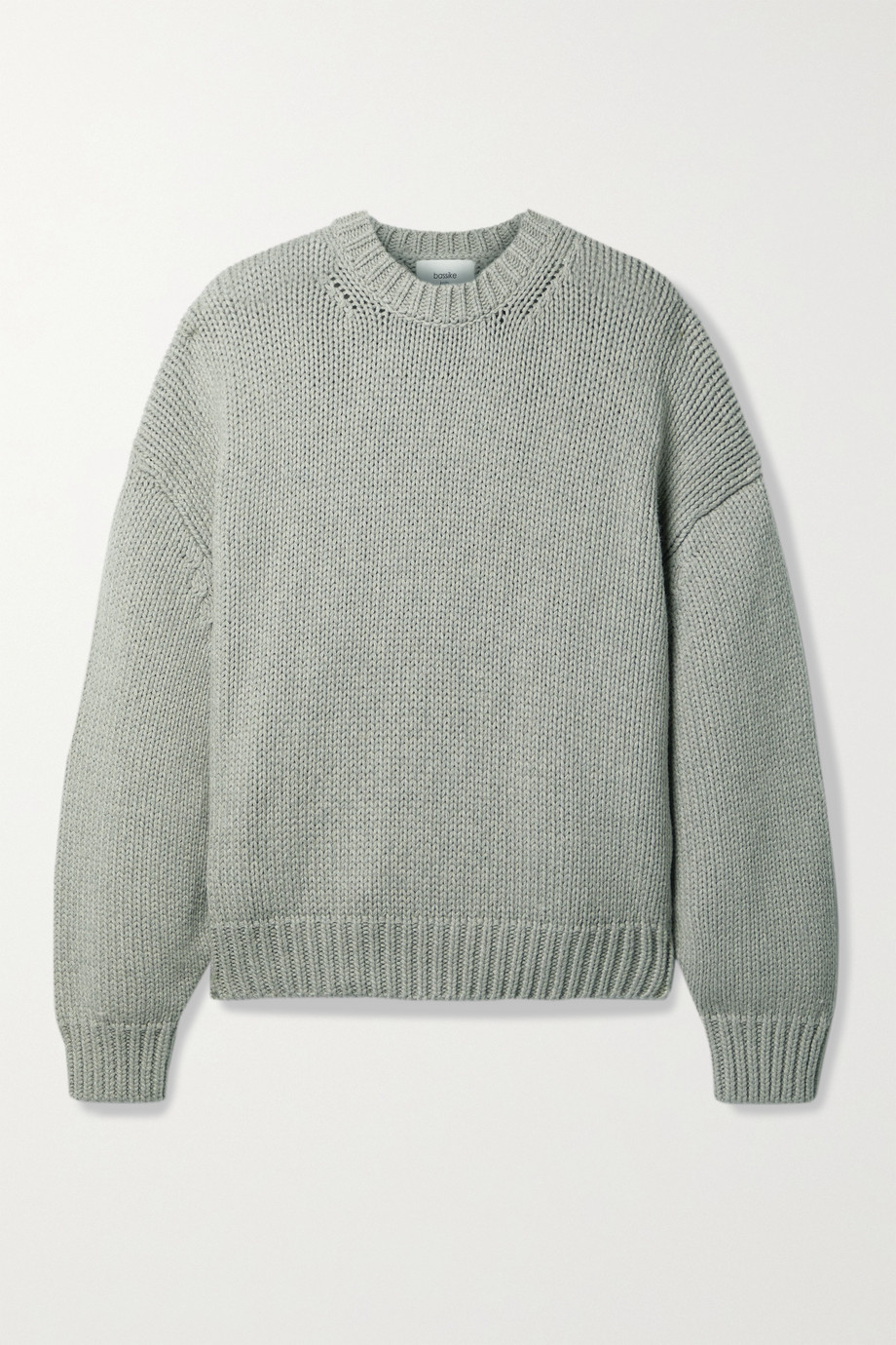 Bassike Oversized-Pullover aus einer Baumwoll-Merinowollmischung