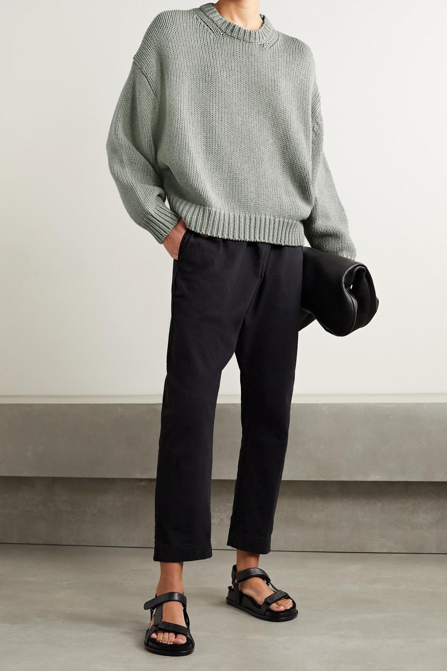 Bassike Oversized cotton and merino wool-blend sweater