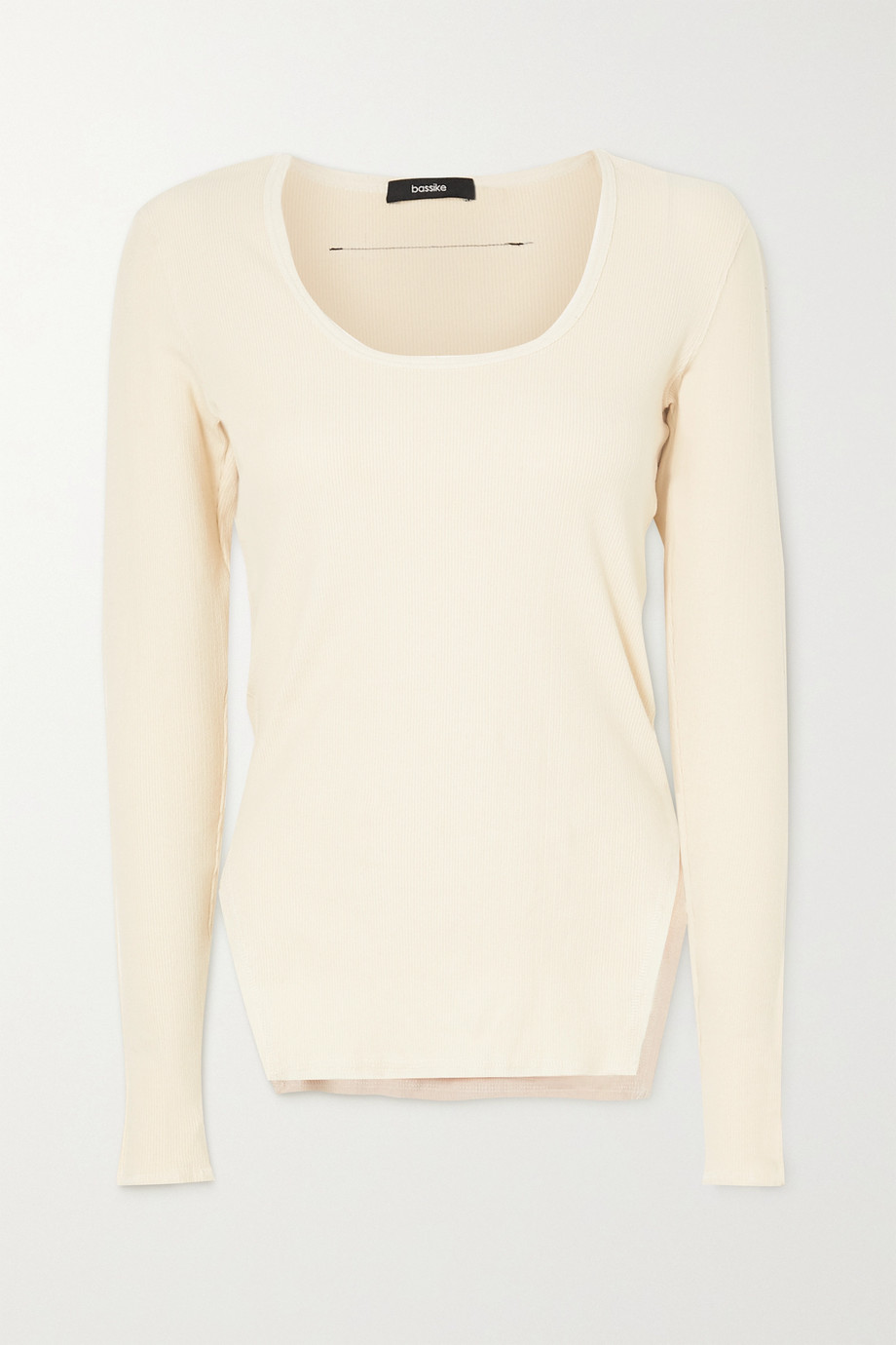 Bassike + NET SUSTAIN ribbed stretch-cotton top