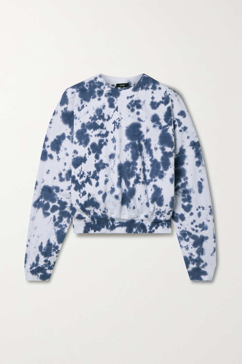 Bassike + NET SUSTAIN cropped organic cotton-jersey sweatshirt