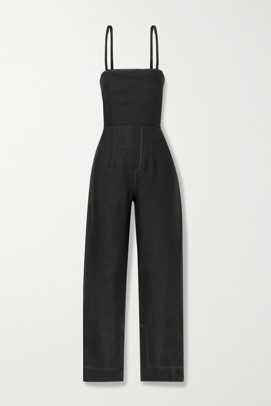 Bassike + NET SUSTAIN open-back linen jumpsuit