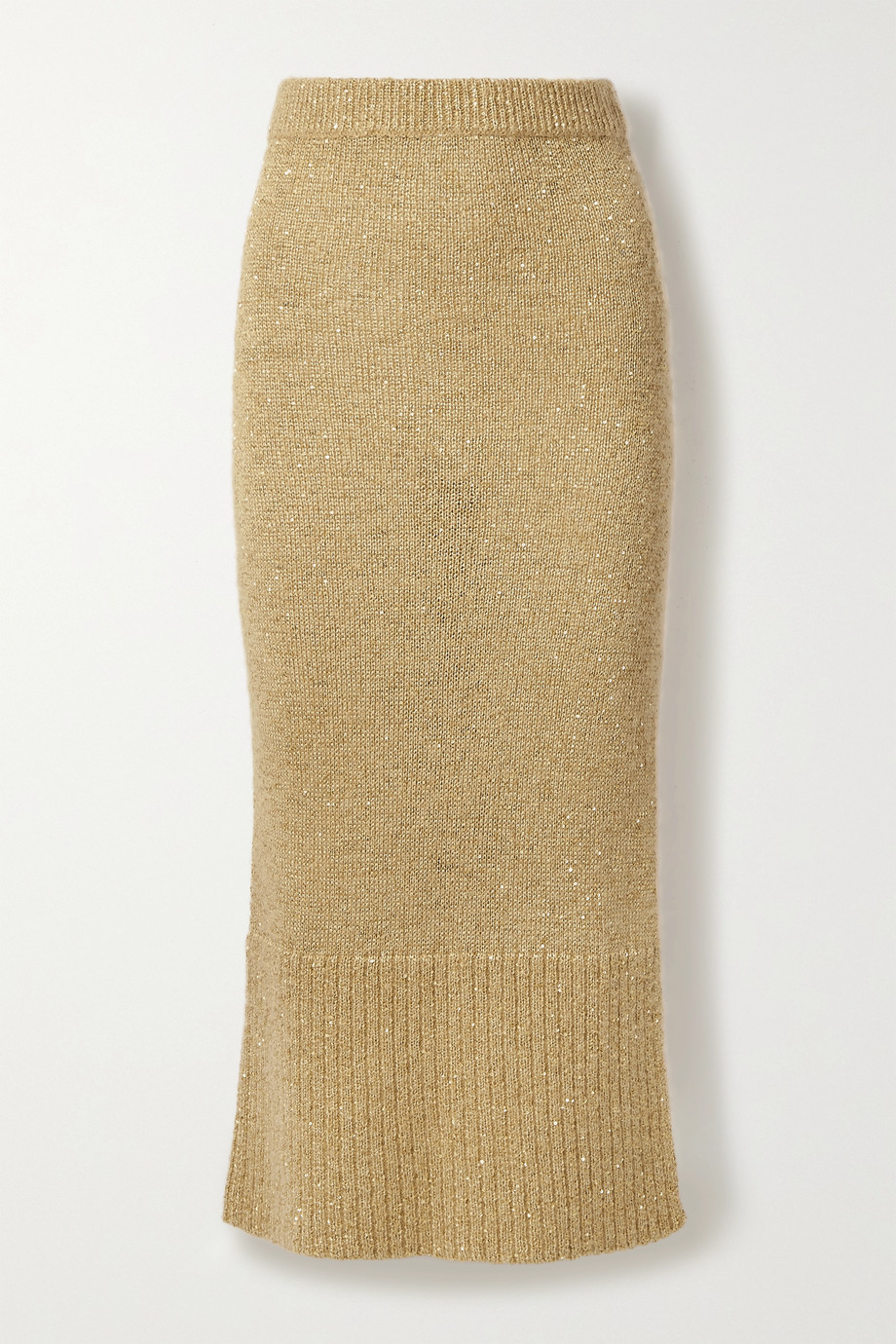 Altuzarra Kinsley sequin-embellished knitted midi skirt