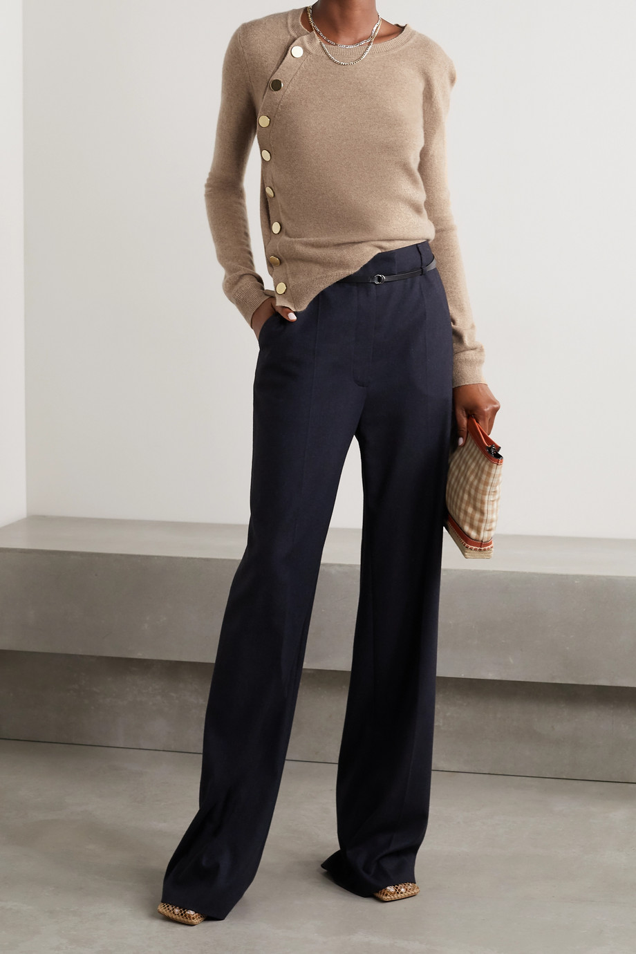 Altuzarra Minamoto button-embellished cashmere sweater