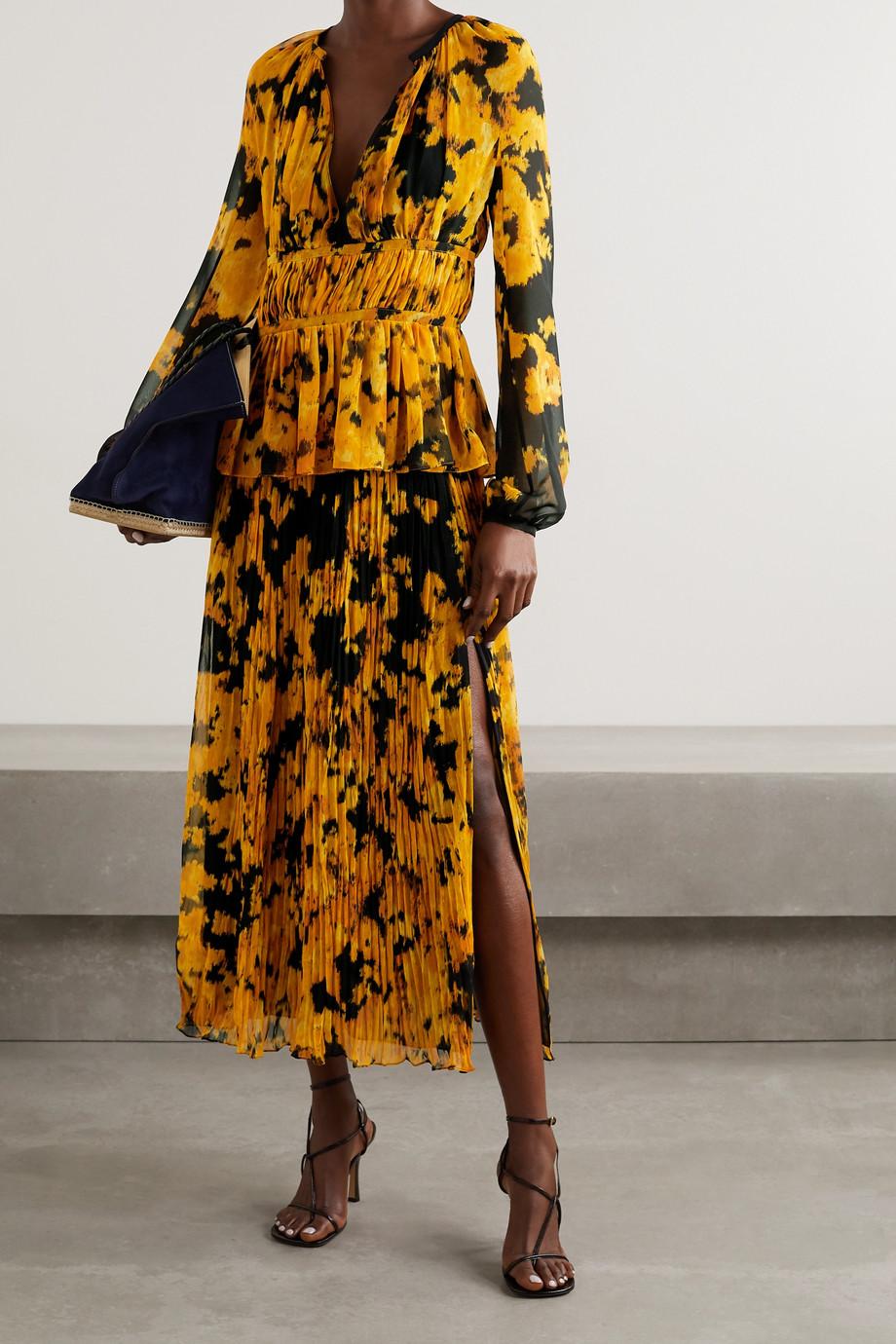 Altuzarra Therese printed plissé-georgette blouse