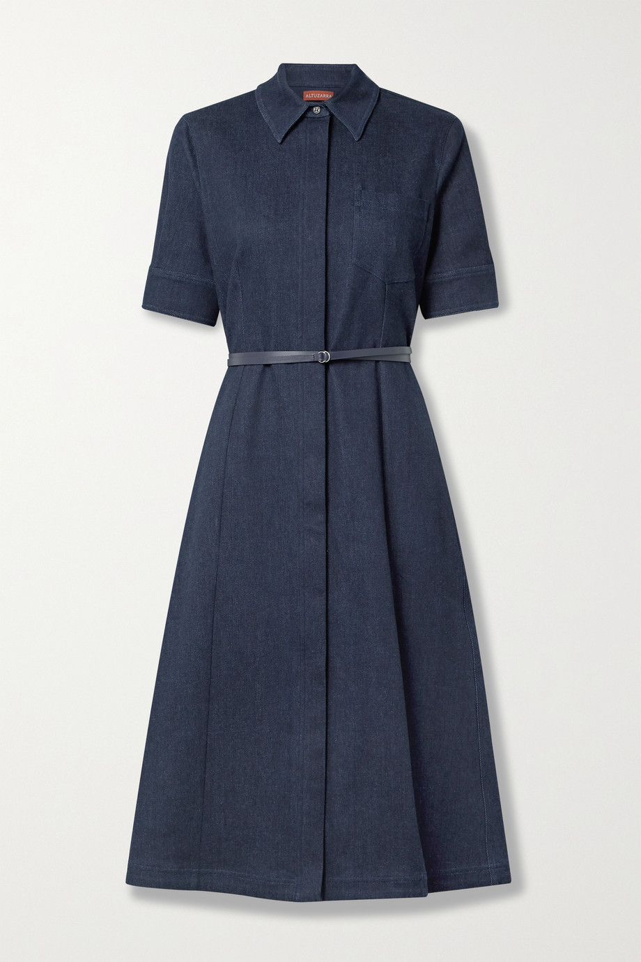 Altuzarra Kieran belted denim midi dress