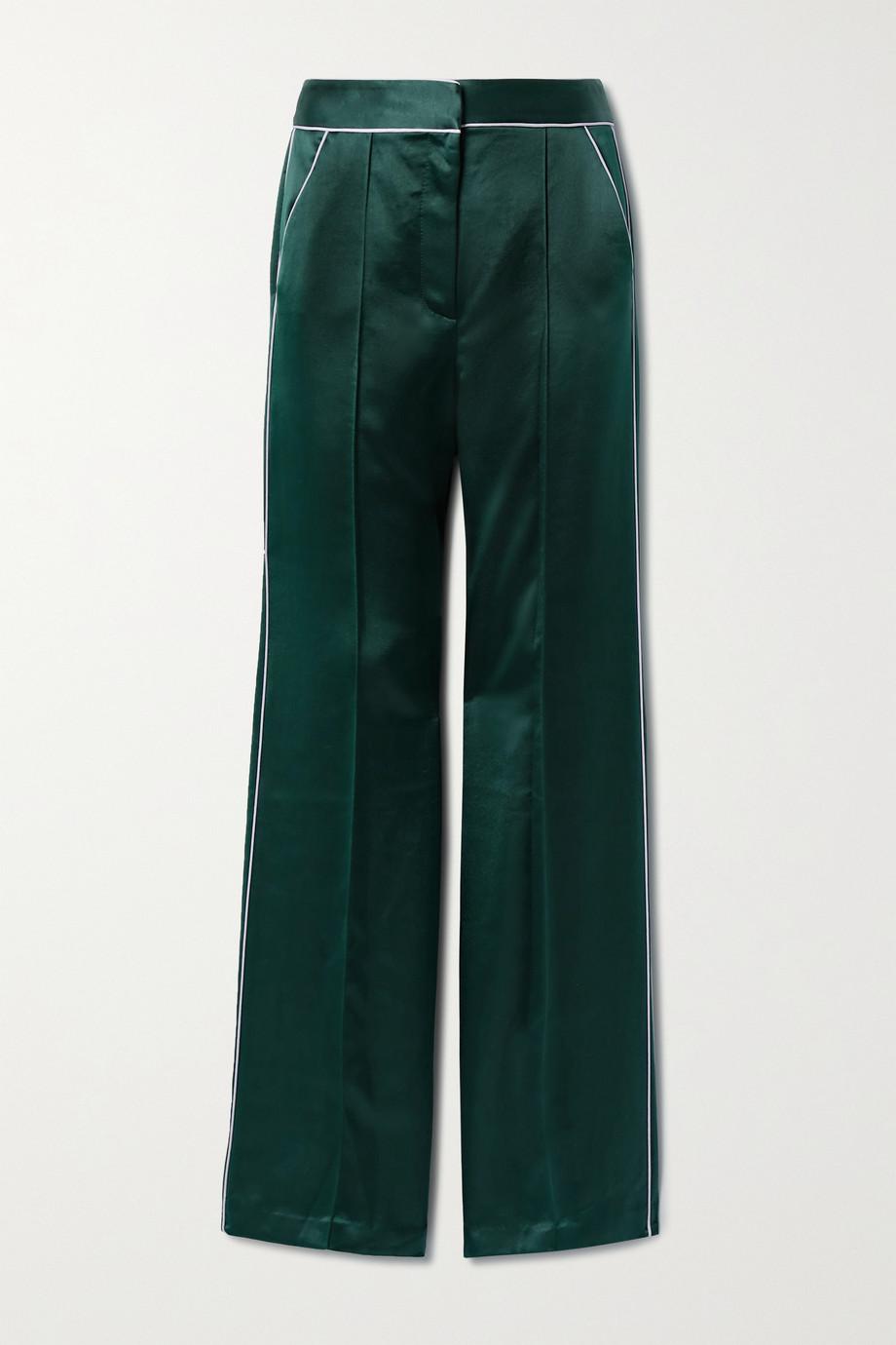 Veronica Beard Edia satin wide-leg pants