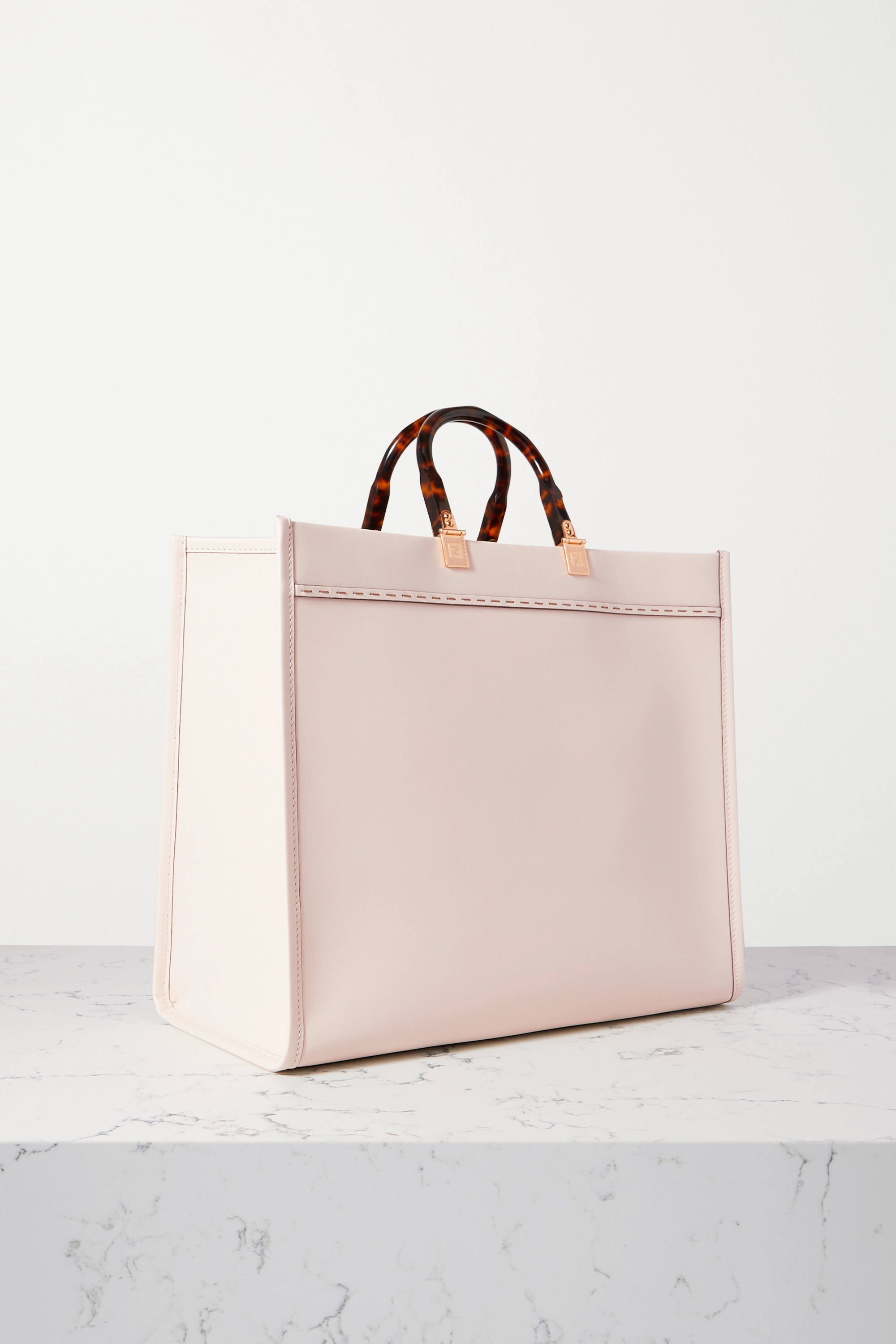 Fendi Sunshine Shopper large embossed leather tote
