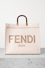 Fendi Sunshine Shopper large embossed leather tote