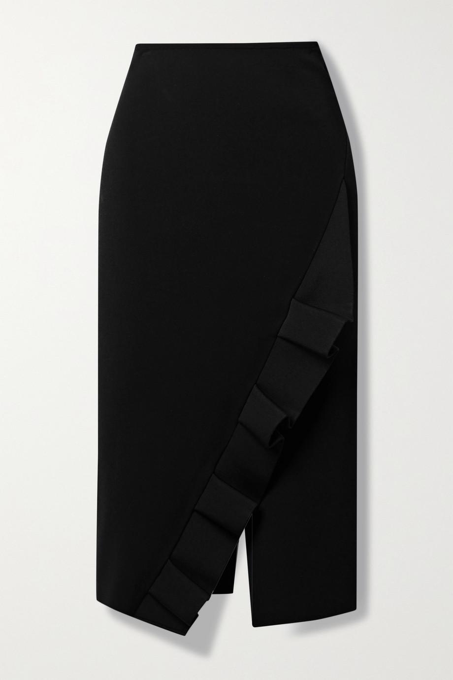 Roland Mouret Bernword ruffled stretch-crepe skirt