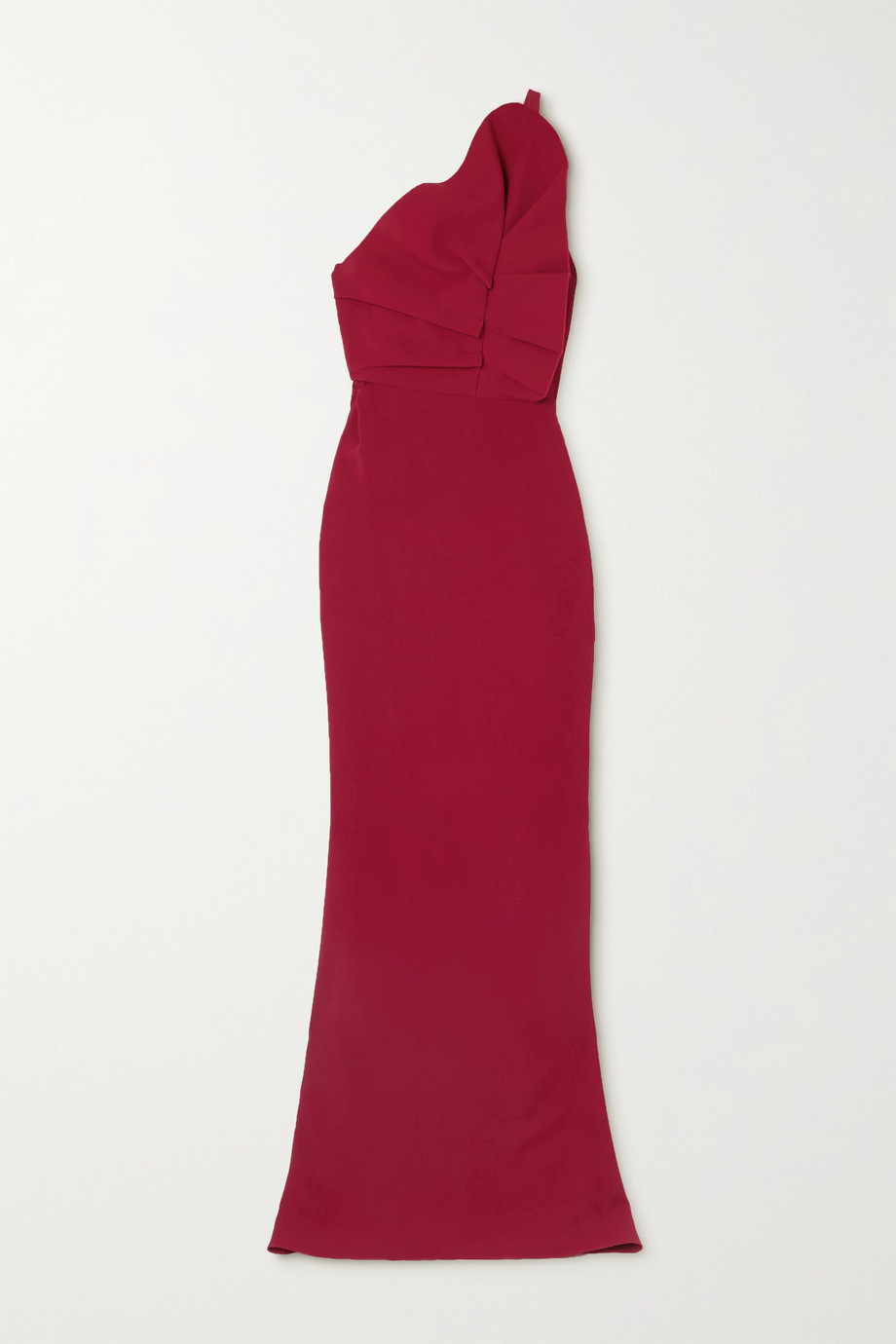 Roland Mouret Robe du soir asymétrique en cady à volants Warrington
