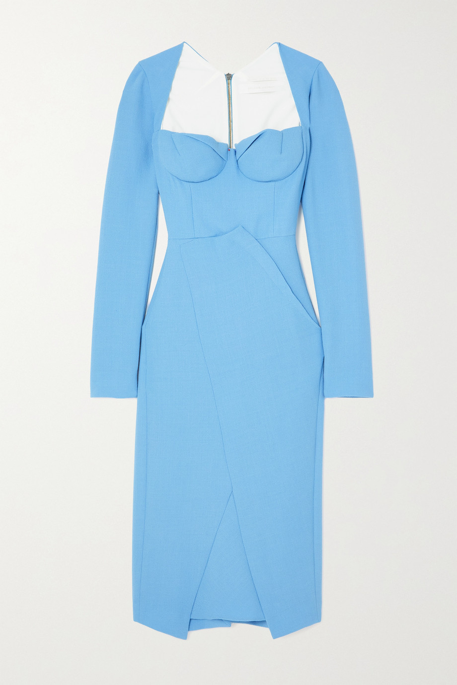 Roland Mouret Glasbury wool-crepe midi dress
