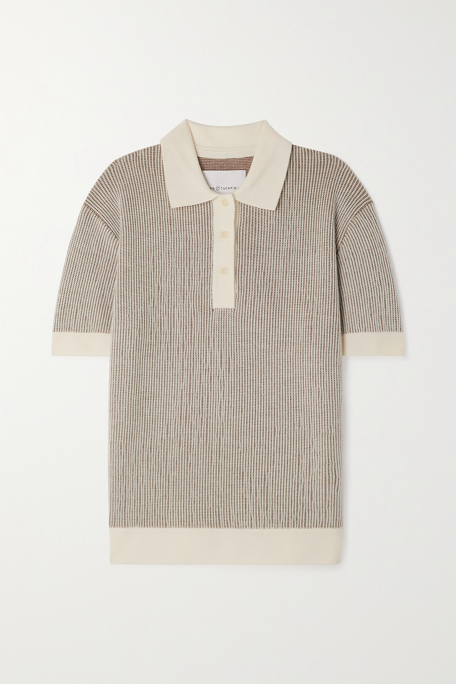 King & Tuckfield Polo en laine mérinos côtelée
