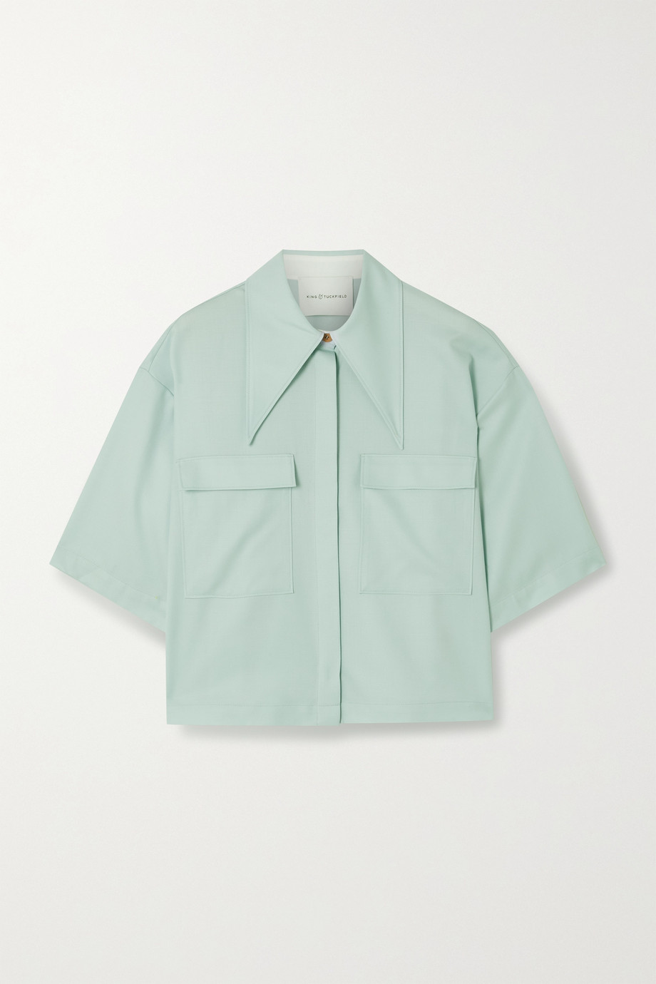 King & Tuckfield Wool-twill shirt